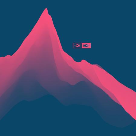 hill top: Mountain Landscape. Mountainous Terrain. Vector Illustration. Abstract Background.