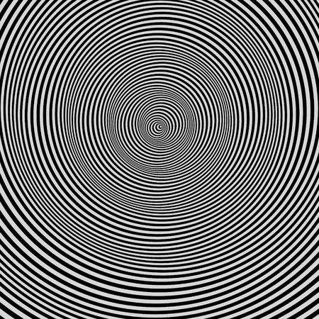 Fondo negro y blanco. Modelo Con la ilusión óptica. Ilustración del vector.