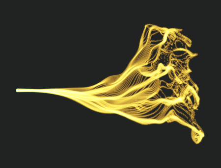 flux: Array with Dynamic Emitted Particles. Water Splash Imitation. Abstract Background. Vector Illustration.