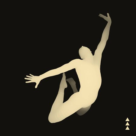 shaping: Gymnast. 3D Model of Man. Human Body Model. Gymnastics Activities for Icon Health and Fitness Community.