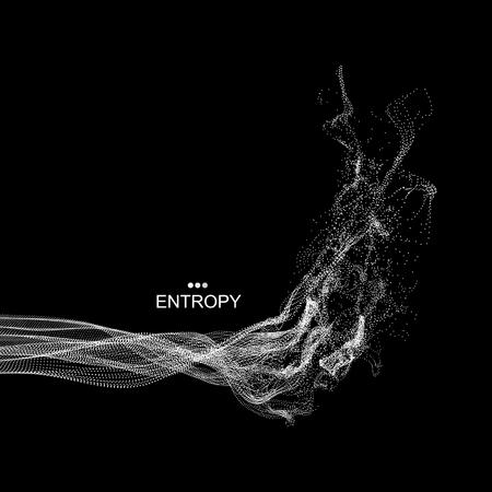 Array mit Dynamic emittierten Teilchen. Water Splash Imitation. Abstrakter Hintergrund. Vektor-Illustration. Standard-Bild - 71681486