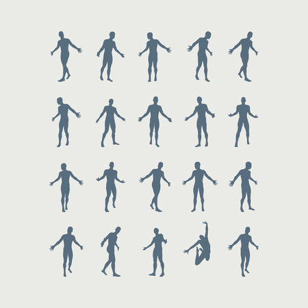 Leadership concept. Successful team leader. Leadership concept. Vector illustration with people silhouette for business.