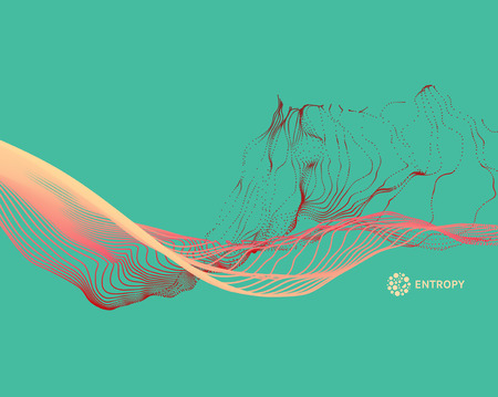 Water Splash Imitation. Array with Dynamic Emitted Particles. Abstract Background. Vector Illustration. Illustration