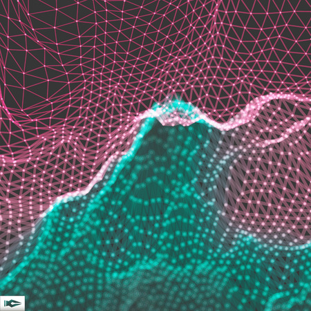 Netwerk Abstracte Achtergrond. 3D-technologie Vector Illustration Stock Illustratie
