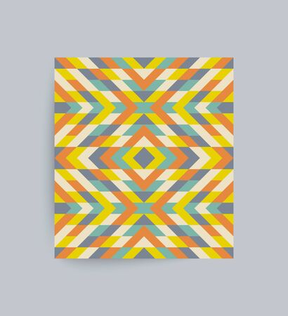 Mosaic pattern. Geometric background. Textbook, booklet or notebook mockup. Business brochure. Cover design template. Vector Illustration.