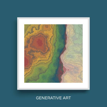 notebook design: Abstract Landscape Background. Mosaic. Textbook, booklet or notebook mockup.  Cover design template. Vector Illustration.