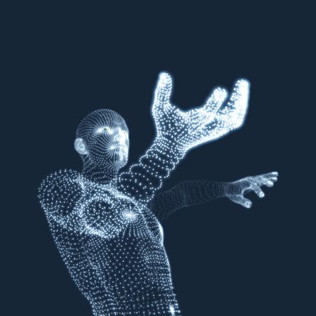 Modèle 3D de l'homme. Corps humain. Élément graphique. Vector Illustration.