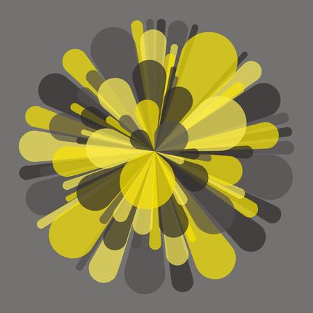banger: Salute and Fireworks. Vector Illustration. Illustration