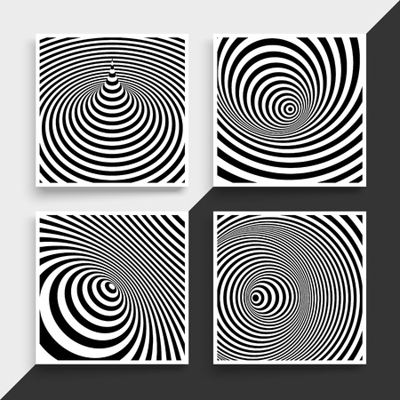 cover art: Black and white abstract striped background. Optical Art. Textbook, booklet or notebook mockup. Business brochure. Cover design template. Vector Illustration.