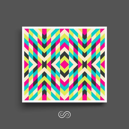 notebook cover: Mosaic pattern. Geometric background. Textbook, booklet or notebook mockup. Business brochure.