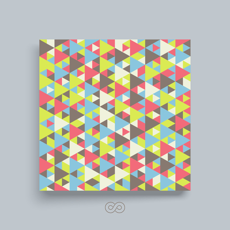color pages: Colorful mosaic backdrop. Geometric background. Textbook, booklet or notebook mockup.