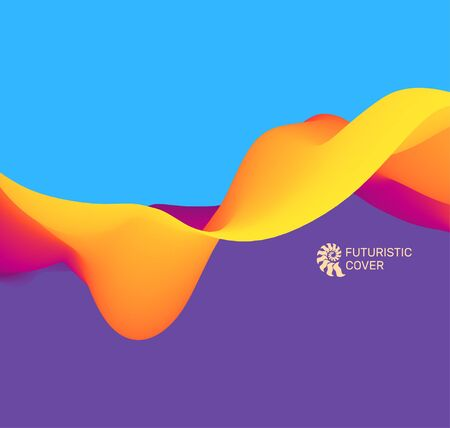 3D Wavy Background. Dynamic Effect. Abstract Vector Illustration. Illustration