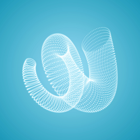 helical: Helix. Connection structure. 3d Vector Illustration.