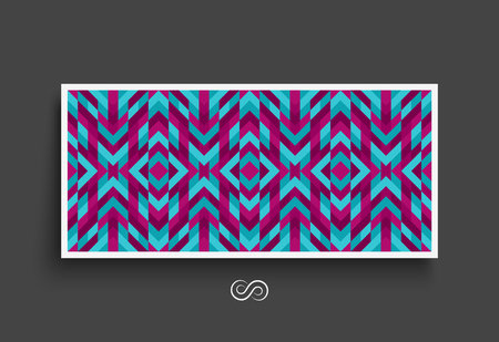 notebook design: Mosaic pattern. Geometric background. Textbook, booklet or notebook mockup. Business brochure. Cover design template. Vector Illustration.