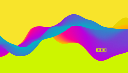 banner effect: Abstract wavy background for banner, flyer, book cover, poster. Dynamic Effect. Vector Illustration. Design Template. Illustration