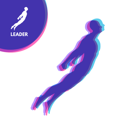 career up: Leadership concept. Personal and Career Growth. Start Up Business Concept. Beginning of Business Ideas. Silhouettes of men. Vector Illustration. Illustration