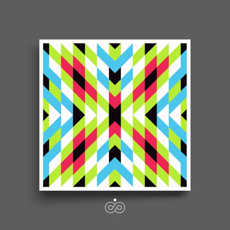 notebook design: Mosaic pattern. Geometric pattern. Textbook, booklet or notebook mockup. Business brochure. Cover design template. Vector Illustration.