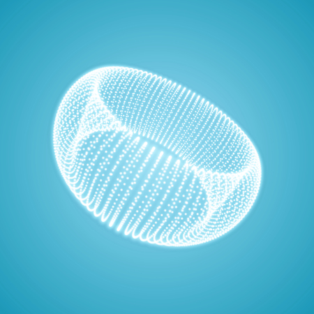 Torus. Connection structure. 3D grid design. Technology style. Vector illustration.