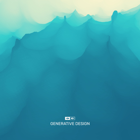 Water Wave. Water Surface. Nature background. Modern pattern. Vector Illustration For Your Design. Flowing Background. Çizim