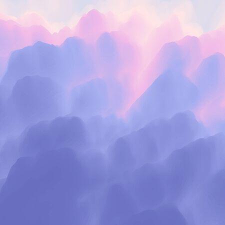 envelope: Lavender background. Lilac pattern. Template for design. Vector Illustration.