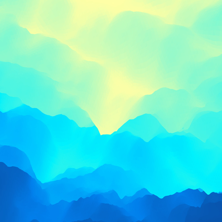 swatch: Mountain Landscape. Mountainous Terrain. Vector Illustration. Abstract Background.