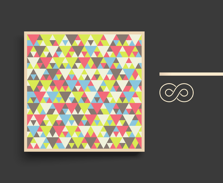 notebook design: Colorful mosaic backdrop. Geometric background. Textbook, booklet or notebook mockup. Business brochure. Cover design template. Vector Illustration. Illustration