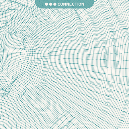 Network Background. Connection Structure. Wireframe Polygonal Vector Illustration. 3D Technology Style. Cobweb Or Spider Web.
