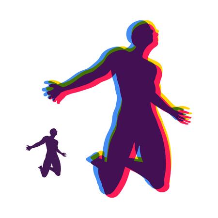 plea: Man who prays. Concept for Religion, Worship, Love and Spirituality. Vector Illustration.