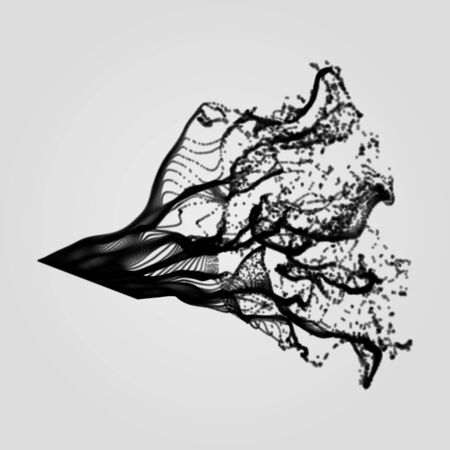 dynamic movement: Water Splash Imitation. Array with Dynamic Emitted Particles. Abstract Background. Vector Illustration. Illustration