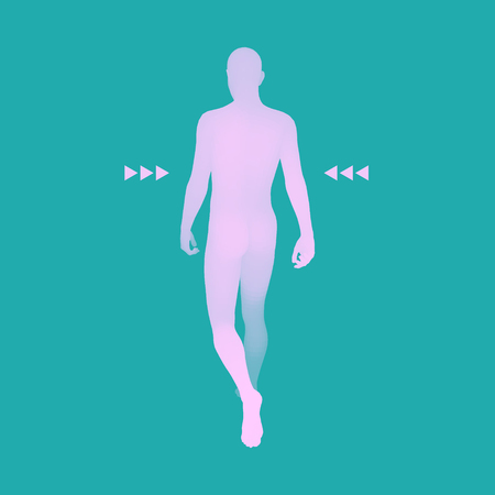 Walking man vector illustration