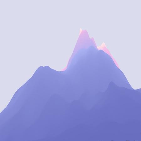 山の風景。山岳地帯。バナー、チラシ、本の表紙、ポスターのベクトル図です。抽象的な背景。