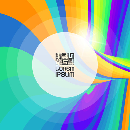 Abstract swirl background. Vector illustration with place for text. Illustration