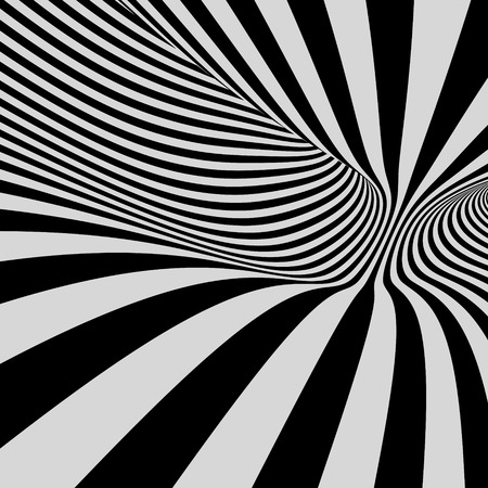 billowy: Black and white background. Pattern with optical illusion. Vector illustration.