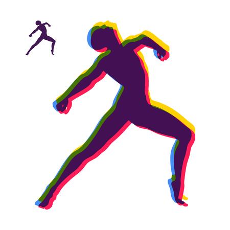 Силуэт танцовщицы. Гимнастка. Человек позирует и танцы. Спорт Symbol. Элемент дизайна. Векторные иллюстрации.