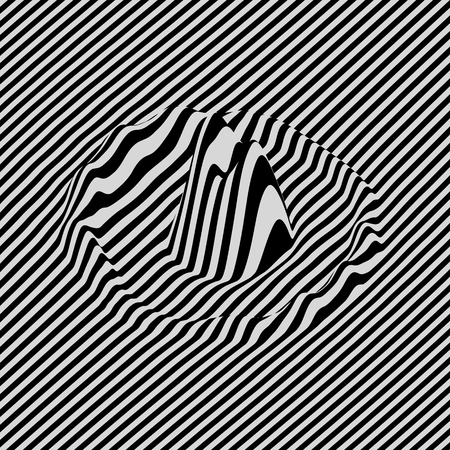 ripply: Glitch abstract background. Distortion effect, bug and error. Optical art. 3D Vector illustration. Illustration