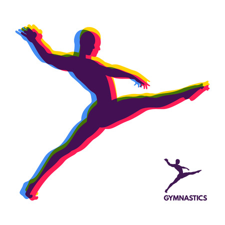 Gymnast. Silhouette of a Dancer. Gymnastics Activities for Icon Health and Fitness Community. Sport Symbol. Vector Illustration. Imagens - 79099936
