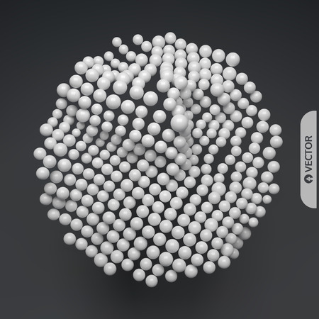 Sphere. Abstract structure with particles. Technology style. Vector illustration. Illustration