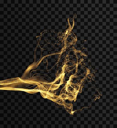 tableau avec dynamic émis particules . résumé éclaboussures de l & # 39 ; eau . fond abstrait. illustration vectorielle