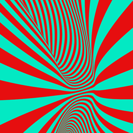 distort: Abstract 3D geometrical background. Pattern with optical illusion. Vector illustration.