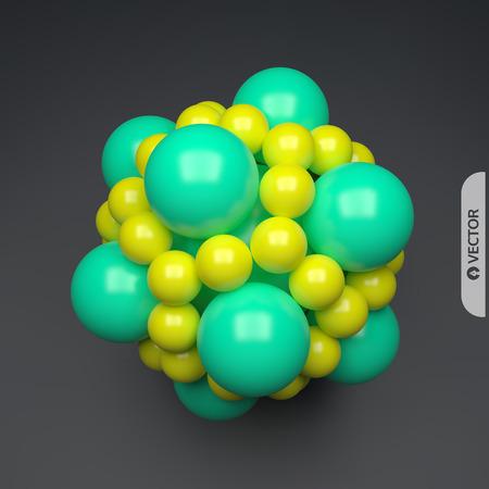 3D molecule. Molecular structure. Vector illustration for science. Illustration