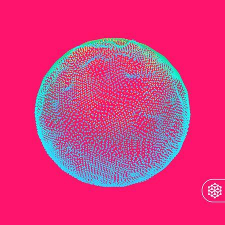 Sphere. Global digital connections. 3D technology style. Vector illustration. Illustration