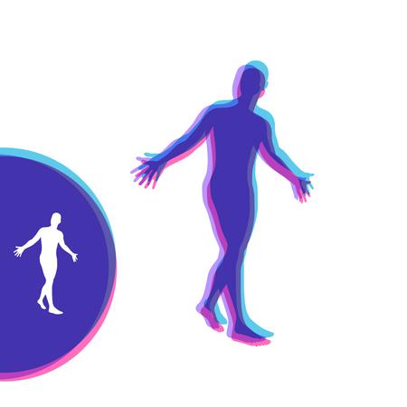 3D Model of Man. Vector illustration.