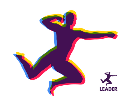 Leadership concept. Personal and Career Growth. Start Up Business Concept. Beginning of Business Ideas. Silhouettes of men.