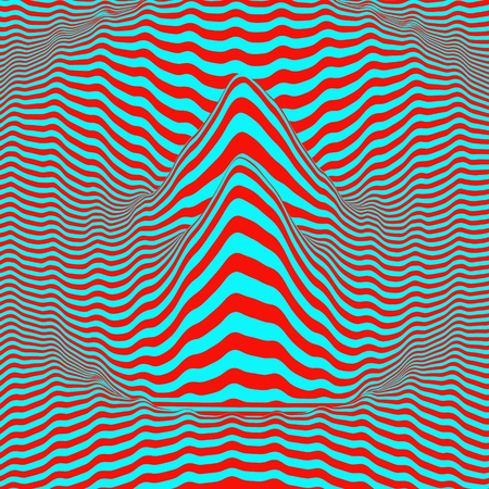 ripply: Waveform background. Dynamic visual effect. Surface distortion. Pattern with optical illusion.