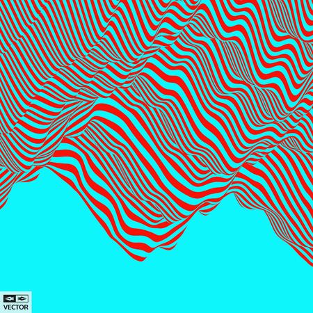 추상 3D 형상 배경입니다. 착시 패턴입니다. 벡터 일러스트 레이 션.