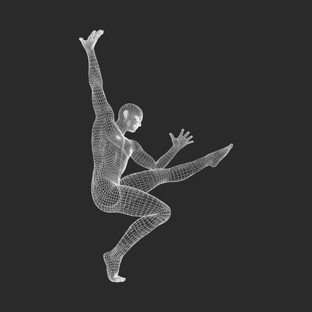 Man Is Posing And Dancing Silhouette Of A Dancer 3d Model Of