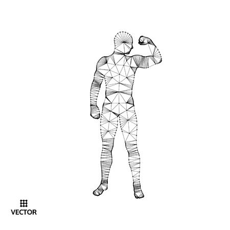 ilustration: Strong men. Sport symbol. Vector ilustration for design. Illustration