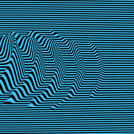 Waveform pattern background with optical illusion.