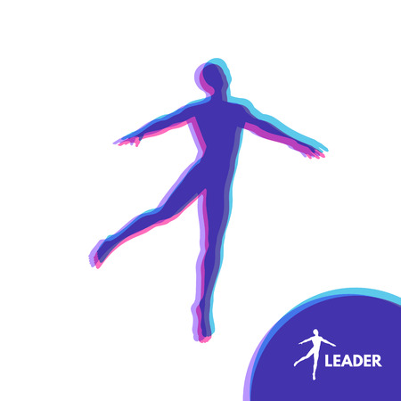 Leadership concept. Personal and Career Growth. Start Up Business Concept. Beginning of Business Ideas. Silhouettes of men. Vector Illustration. Vettoriali