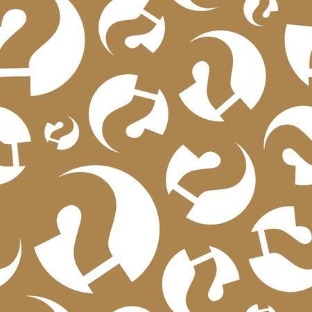 Decorative question mark design vector illustration.